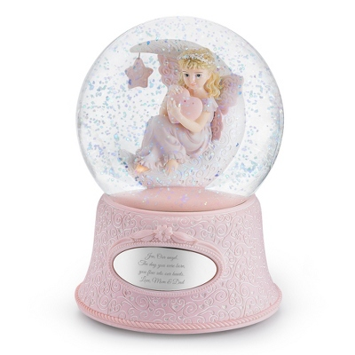 Personalized Angel Snow Globes