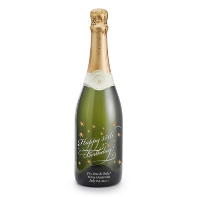 "Reserve Sparkling ""Happy Birthday"" Etched Wine Bottle - UPC 825008355880"