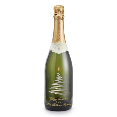 Reserve Sparkling Swirly Tree Etched Wine Bottle - UPC 825008356047