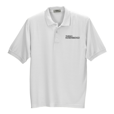 White Soft Blend Polo - Business Gifts For Him