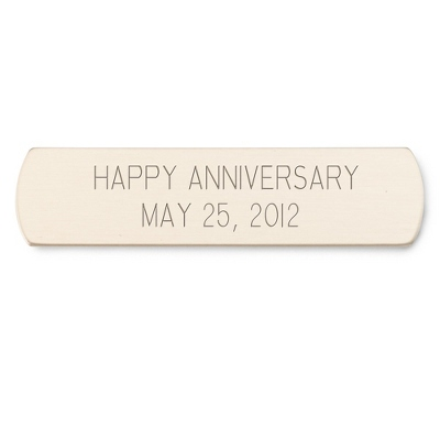 "1/2"" x 2"" Brass Plate with Rounded Edges - Engraving Plates & Name Badges"
