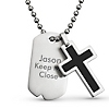 Cross Dog Tag Pendant at Things Remembered
