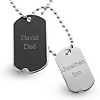 Black Matte Dog Tags at Things Remembered