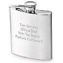 Stainless Steel 7oz Flask at Things Remembered