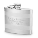 Silver Banded Flask at Things Remembered