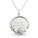 Sterling Silver Clear Claddagh Necklace at Things Remembered
