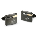 18K Gold Accented Black Steel Cuff Links at Things Remembered
