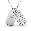 Silver Weave Dog Tag at Things Remembered