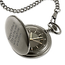 Satin Gunmetal Pocket Watch at Things Remembered