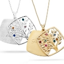 Sterling Birthstone Family Tree Necklaces at Things Remembered