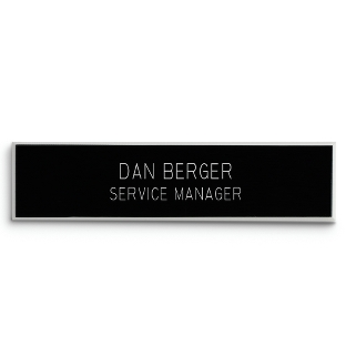 Image of 5/8 X 2 5/8 Black Plastic Name Badge