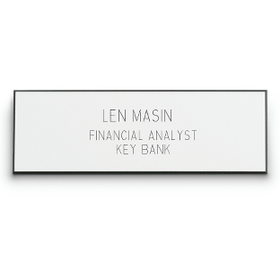 Image of 1 x 3 White Plastic Name Badge
