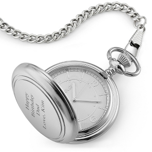 Image of Silver Face Pocket Watch