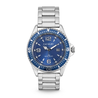 Image of Cobalt Steel Diver-Style Wrist Watch