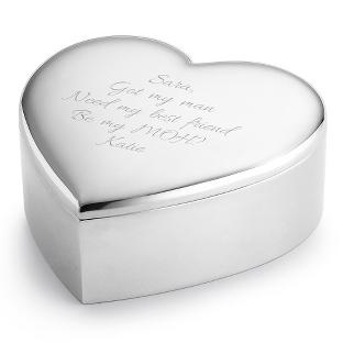 Image of Personalized Polished Heart Keepsake Box