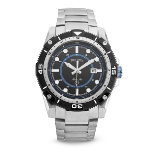Image of Men's Bulova Marine Star Watch with Blue Accents 98B178