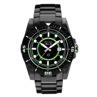 Image of Men's Bulova Marine Star Black Diver Watch 98B178