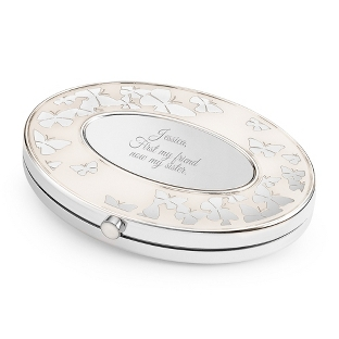 Oval Butterfly Compact