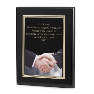 Image of Acknowledgment Achievement Plaque with Black Base