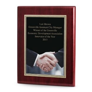 Image of Acknowledgment Achievement Plaque with Rosewood Base