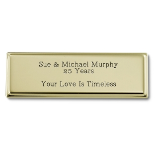 Image of 1 x 3 Gold Plated Brass Plate