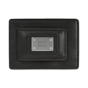 Engraved Black Duo Money Clip Wallet
