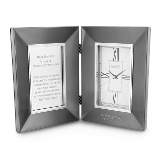 Image of Symphony Gunmetal Hinged Clock