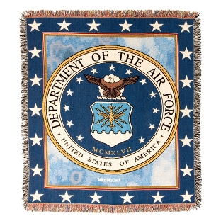 Image of Air Force Tapestry Throw