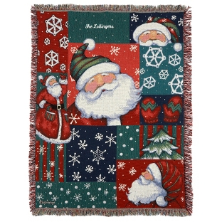 Image of Santa Snow Fun Throw