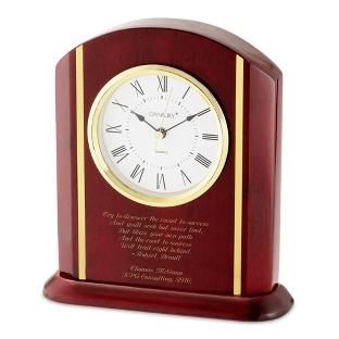Image of High Gloss Mahogany Clock