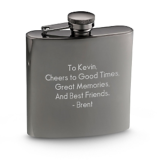 Image of Personalized Gunmetal Flask