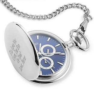 Image of Three Dial Blue Pocket Watch