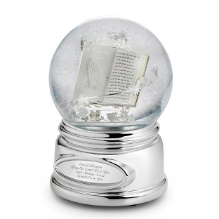 Image of Praying Hands Musical Snow Globe