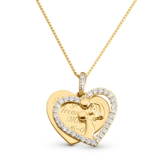 Image of Gold/Sterling Miracle of Life Necklace with complimentary Filigree Keepsake Box