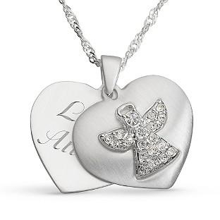Image of Guardian Angel Necklace with complimentary Filigree Keepsake Box