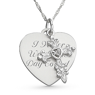 Image of Enchanted Cross Necklace with complimentary Filigree Keepsake Box