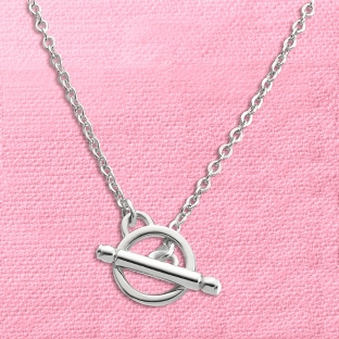 Image of Toggle Charm Necklace