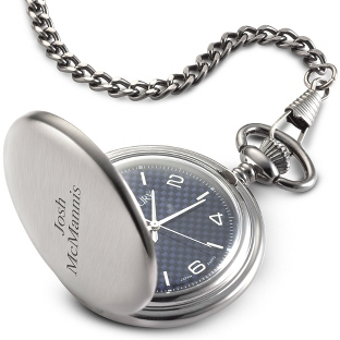 Image of Blue Carbon Fiber Pocket Watch
