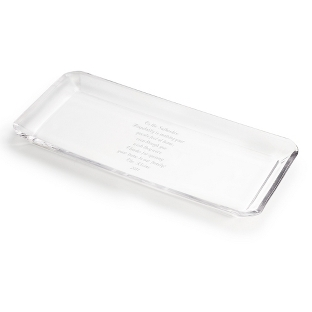 Image of Crystal Rectangle Serving Plate