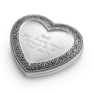 Things Remembered - Expressions Heart Compact - $14.99