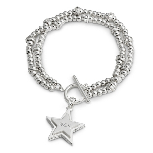 Image of Double Strand CZ Star Bracelet with complimentary Filigree Keepsake Box