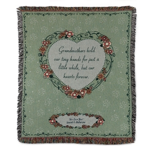 Image of Floral Print Grandmother Throw