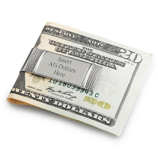 Image of Stainless Steel Brushed Money Clip