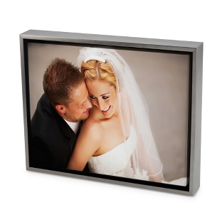 Image of 18x24 Color Photo to Canvas Art with Float Frame