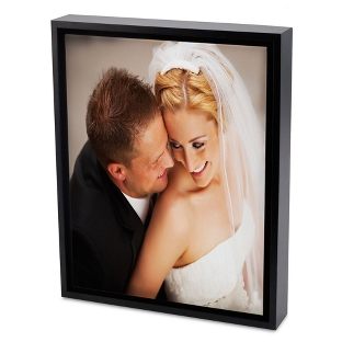 Image of 24x36 Color Photo to Canvas with Float Frame