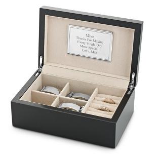 Image of Men's Black Jewelry Box