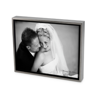 Image of 11x14 Black & White Photo to Canvas Art with Float Frame