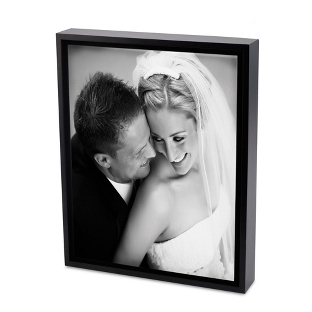 Image of 16x20 Black & White Photo to Canvas Art with Float Frame