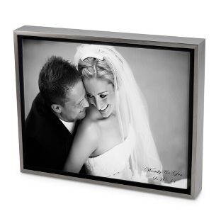 Image of 24x36 Black & White Photo to Canvas Art with Float Frame