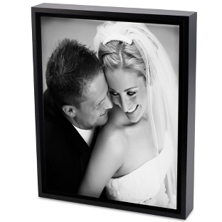 Image of 30x40 Black & White Photo to Canvas Art with Float Frame